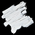 White oil paint brush strokes Royalty Free Stock Photo