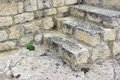 White Old Stone Stairs, Wall and Floor Royalty Free Stock Photo
