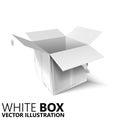 White open box 3D/ illustration, design element