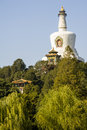 The white pagoda in beihai park beijing Stock Image