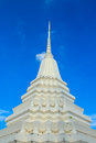 White pagoda on blue sky wat nang nong bangkok thailand Stock Images