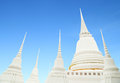 White pagoda with sky blue Stock Photography