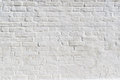 White Painted Brick Wall. Background, Texture.