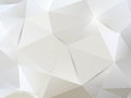 White paper abstract background geometric Stock Image