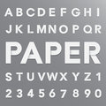 White paper alphabet with shadow illustration eps Stock Images
