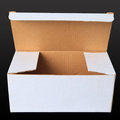 White paper box open one side  black Royalty Free Stock Photos