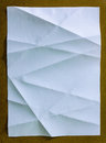 White paper with crease