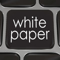 White paper download online information advice case study words on a black computer keyboard key or button to a document or with Royalty Free Stock Images