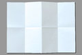 White paper with folds isolated on gray background Royalty Free Stock Photography