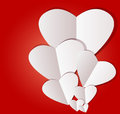 White paper heart valentins day design template eps for valentines background Stock Images