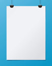 White paper mockup. A4 size. Vector illustration