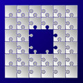 White paper puzzle pieces frame border Royalty Free Stock Photo