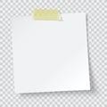White paper reminder Royalty Free Stock Photo