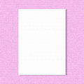 White paper sheet on pink wall Royalty Free Stock Photo