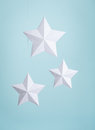 White Paper Stars Royalty Free Stock Photo