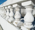 White parapet a in the afternoon Stock Images