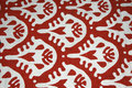 White pattern on red background Royalty Free Stock Photos