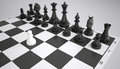 White pawn before the army of black chess pieces gray background Stock Image