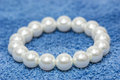 White pearl bracelet Royalty Free Stock Photo