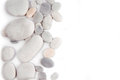White pebble stone frame border background Royalty Free Stock Photography
