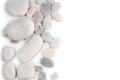 White pebble stone frame Royalty Free Stock Photo
