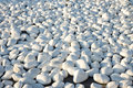 White pebble stones background a nice from pebbles Royalty Free Stock Photography