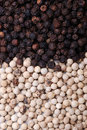White pepper and black pepper Stock Photography