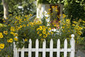 White Picket Fence Stock Photography