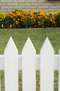 White picket fence Royalty Free Stock Images