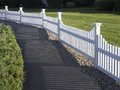 White picket fence Royalty Free Stock Photo