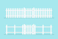 White picket fence with gate Royalty Free Stock Photo