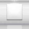 White picture blank on brick wall Stock Image