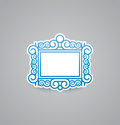 White picture frame icon on grey background. Vector illustration picture frame icon. eps10.
