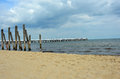 White pier by the Baltic Sea Royalty Free Stock Photo