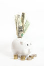White piggy bank Royalty Free Stock Photo