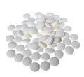 White pills on a background Royalty Free Stock Photos