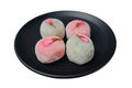 White pink sakura mochi Royalty Free Stock Photography