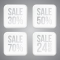 White plastic sale buttons this is file of eps format Royalty Free Stock Photos