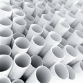 White plastic tube as technological background Stock Photos