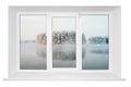 White Plastic Window Frame