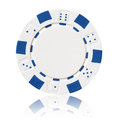 White poker chip Royalty Free Stock Photo