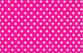 White polka dot with pink background