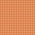 White polka dots on orange background vector. Royalty Free Stock Photo