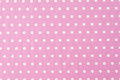 White polkadot with pink background or wallpaper Stock Photo