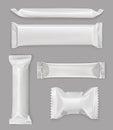 White polyethylene package, chocolate bar