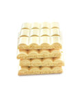 White porous chocolate bars of isolated on background Royalty Free Stock Photos