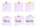 White post it notes isolated on white background vector illustration of Stock Images
