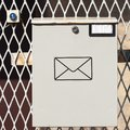 White postal box has space for logo or text Stock Photography