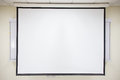 White projector screen Royalty Free Stock Photo