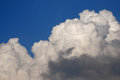 White puffy clouds with blue sky Royalty Free Stock Image